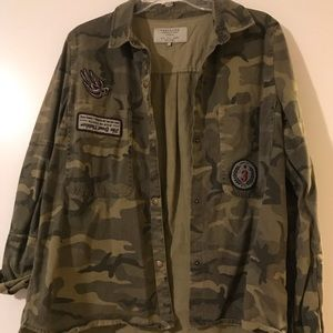 Zara Camo Jacket with Patches